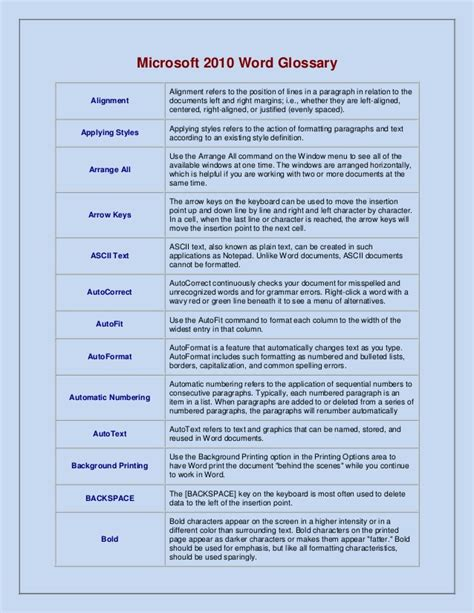glossary template wonderful glossary template pictures inspiration exle