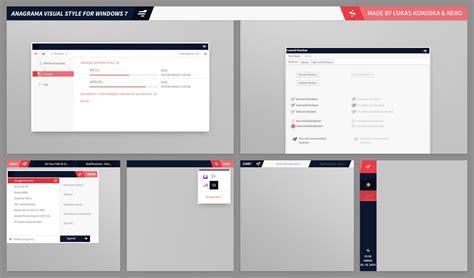 theme windows 7 visual style anagrama b7 visual style by lukaskokoska on deviantart