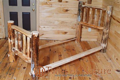 log bed kits western corral log bed frame kit log bedroom furniture