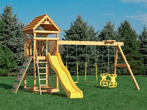 playset glider swing simple playground set yellow glider swings for playsets