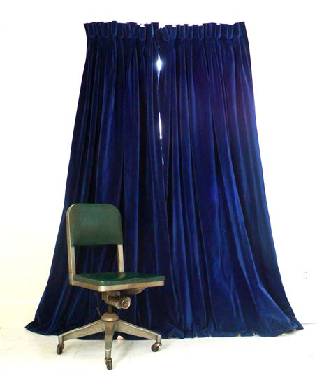 royal blue curtain panels vintage velvet curtains deep royal blue by abrshop on etsy