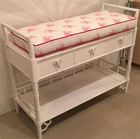 Faux Bamboo Baby Changing Table Lilly Pulitzer Elephant Pink Changing Table