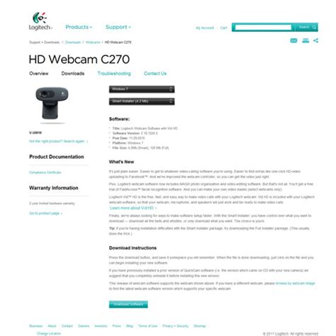 logitech web driver logitech hd c270 driver indir logitech c270