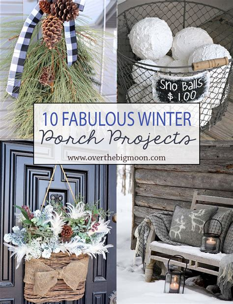 winter porch decorating ideas 10 wonderful winter front porch projects over the big moon