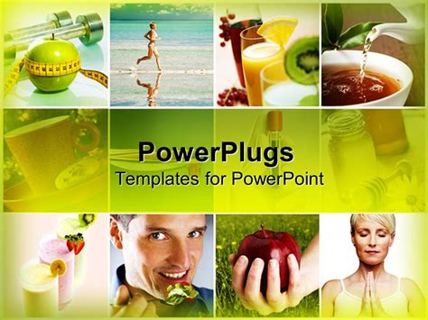 powerpoint templates free download healthy lifestyle powerpoint template natural healthy food and physical