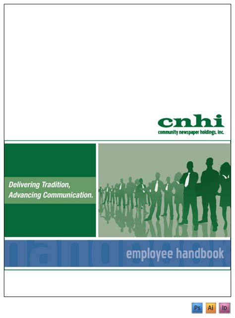employee handbook cover page template cnhi employee handbook on behance