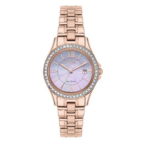 Citizen Eco Drive Ladies' Rose Gold Plated Bracelet Watch   H.Samuel