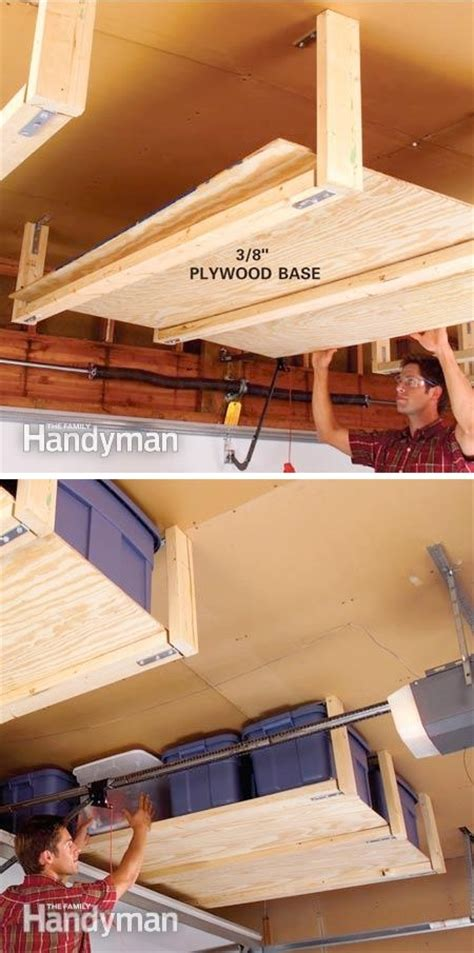 Suspended Ceiling Storage 28 brilliant garage organization ideas with pictures