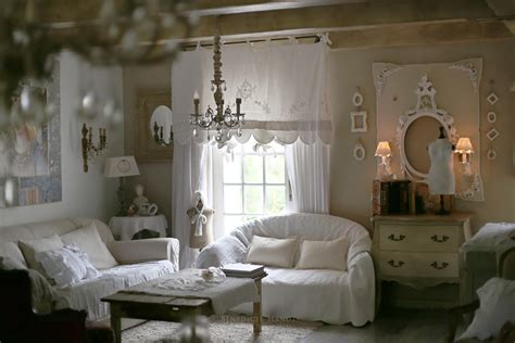 Salon Shabby Chic by Salon Romantique Salon Shabby Chic Ambiance Cosy Le