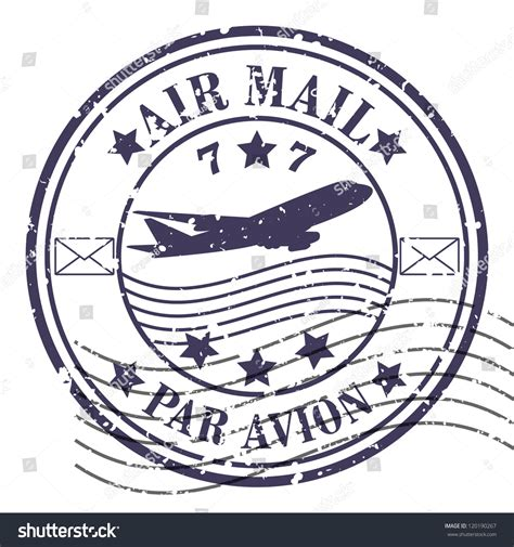 air mail rubber st grunge rubber st vector grunge air stock vector