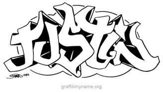 justin graffiti my name