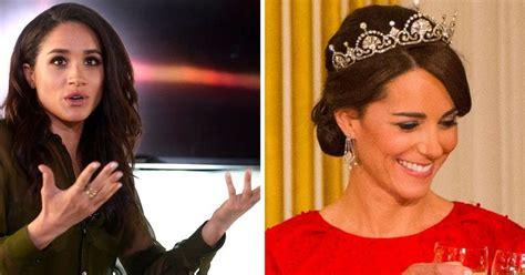 meghan markle what tiara did she wear meghan markle can t wear a tiara but kate middleton can