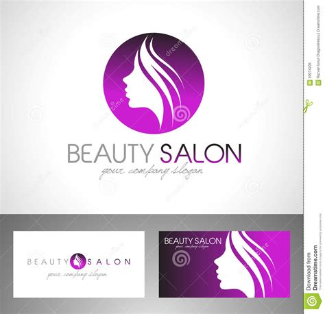 beauty salon logo stock vector image of branding