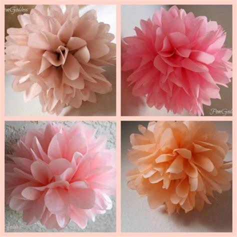 How To Make Tissue Paper Flower Pom Poms - goddess 5 tissue paper pom poms wedding decor