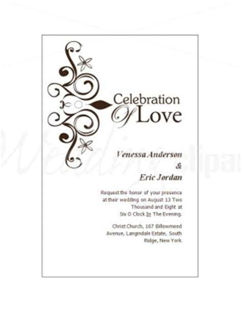 printable wedding invitation cards template
