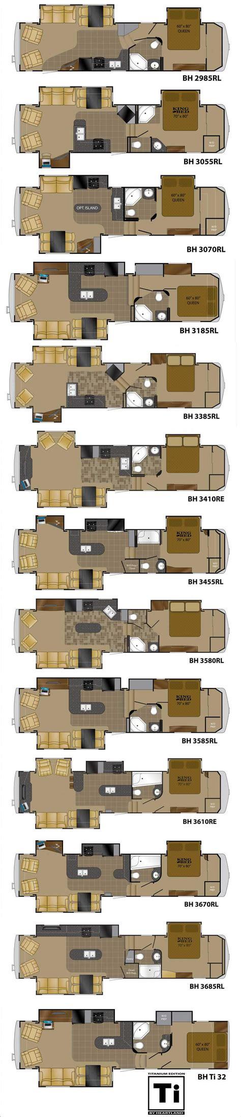bighorn fifth wheel floor plans 2012 heartland bighorn fifth wheel roaming times