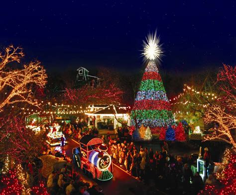 celebrations antique christmas lights festivals at 10 theme parks in america