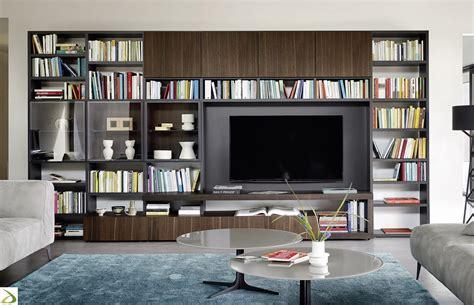 immagini librerie d arredamento parete libreria soggiorno di design agel arredo design