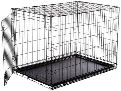 puppy cage amazonbasics single door folding metal crate large 42x28x30 inches ebay
