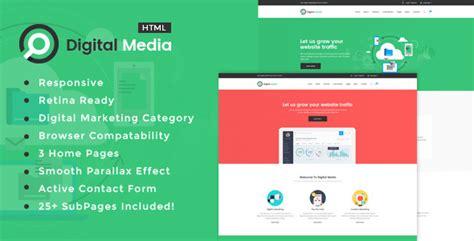 Digital Media Digital Marketing Html Template By Template Path Themeforest Marketing Portfolio Template