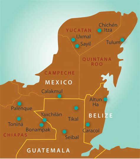 mayan ruins map pix for gt kohunlich mayan ruins map mexico