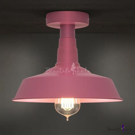 Pink Ceiling Lights Pink Semi Flush 1 Light Ceiling Light Beautifulhalo