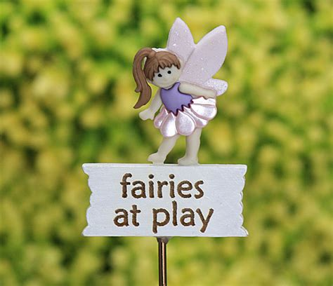 Handmade By Jenn - fairies at play sign garden miniature sign by