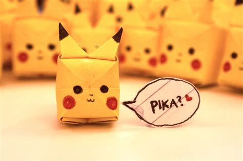 How To Make A Paper Pikachu - paper origami pikachu images images