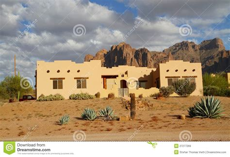 Adobe Homes For All Climates usa arizona adobe house in a desert royalty free stock