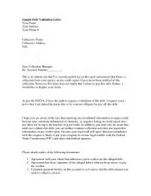 Debt Collection Dispute Letter Template Sample Debt Validation Letter Best Business Template