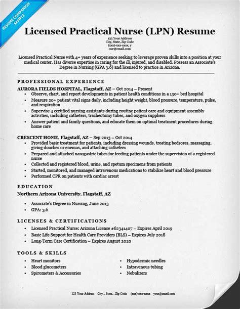 lpn resume help