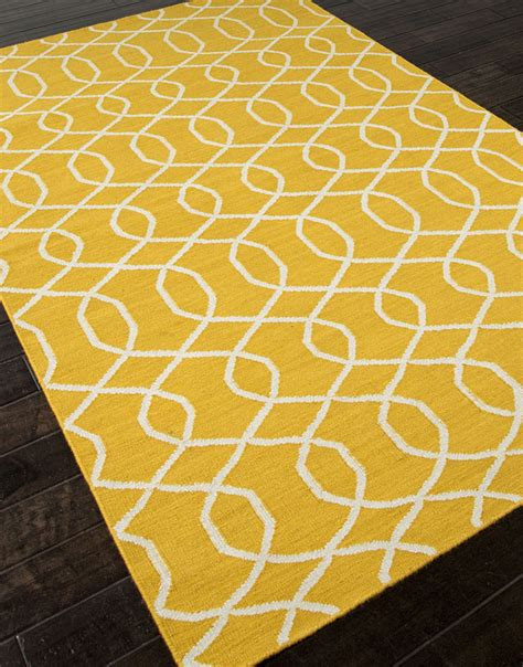 yellow pattern rug 2 buy jaipur rugs rug102741 flat weave geometric pattern