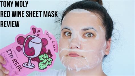 Wine Mask tony moly wine sheet mask review mask monday