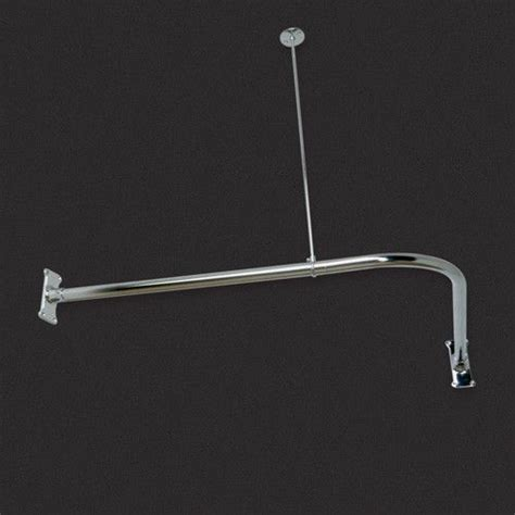 corner shower curtain rod ceiling support pin by plumunique on home pinterest