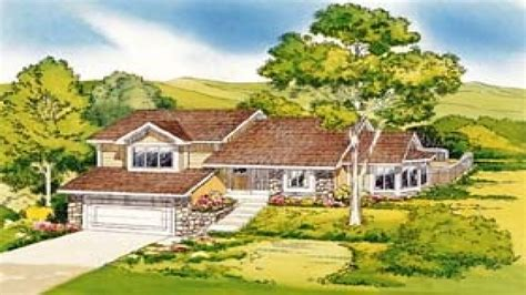 hillside house plans hillside house plans rear view pictures to pin on