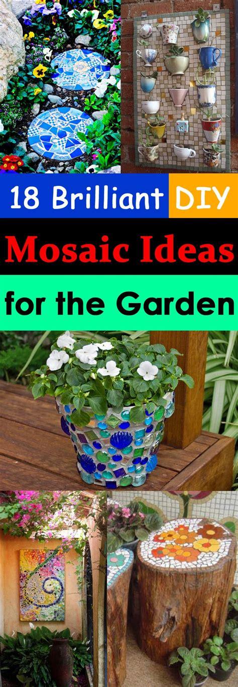 brilliant diy mosaic ideas  garden mosaic craft