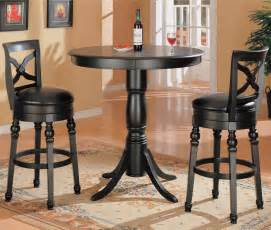 Kitchen Bar Table And Stool Sets Black Finish Kitchen Bar Pub Table Set Wood Stools New