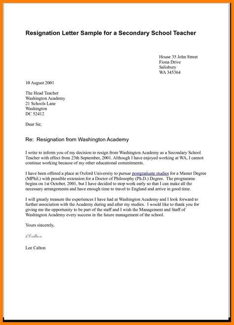 exle resignation letter 6 exle of a resignation letter uk pennart 1208