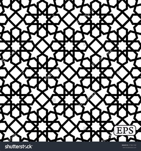 pattern islamic stock vector geometrical arabic islamic pattern background