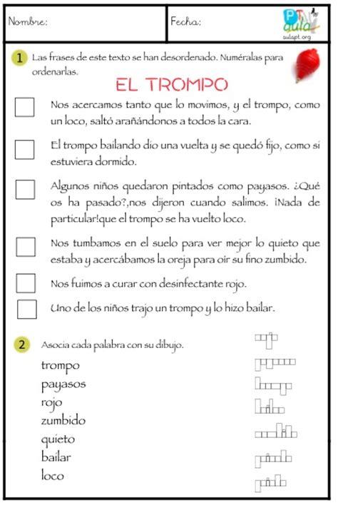 lectura y redaccin ejercicios y teora sobre lengua espaola juegos con lecturas para 3 186 de primaria el trompo