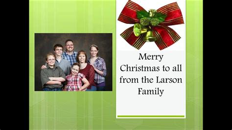 merry christmas   larson family youtube