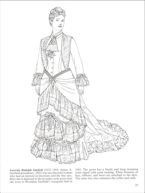 victorian women coloring book adult coloring pages