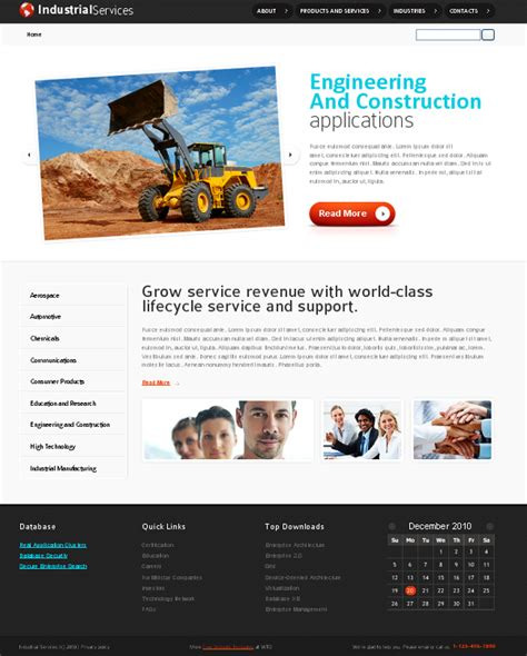 templates for industrial website web design blog 187 free xhtml css templates for different