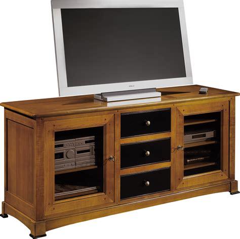 meuble tv hifi 3 tiroirs 2 portes vitr 233 es 968 00