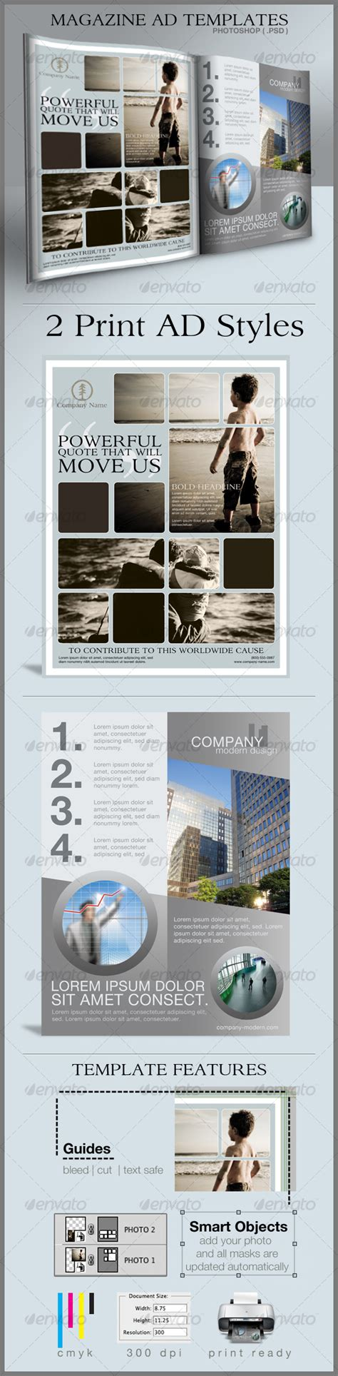 Print Ad Templates By Cursiveq Best Designers Print Ad Design Templates