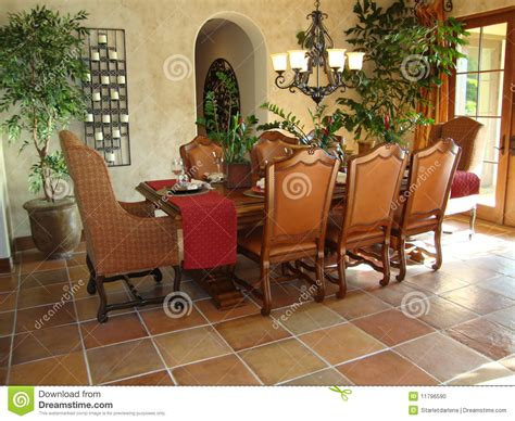 Livingroom In Spanish beautiful dining room stock photo image 11796590