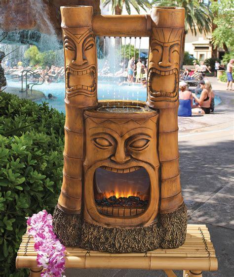 tiki decorations home tiki bar decor waterfall polynesian tiki statue lighted