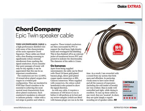 hi fi choice speaker cable reviews product review epic speaker cable hi fi choice