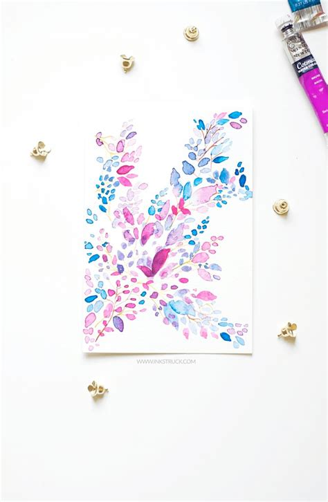 abstract pattern tutorial abstract leaf watercolor pattern tutorial watercolors