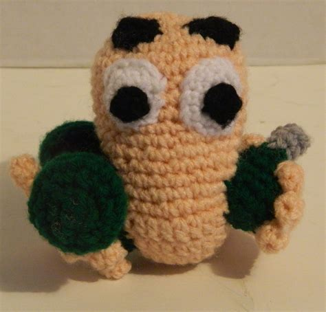 crochet pattern video game worms video game amigurumi pattern geeky crochet